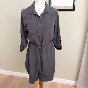OLD NAVY • M slate button slain blouse dress
